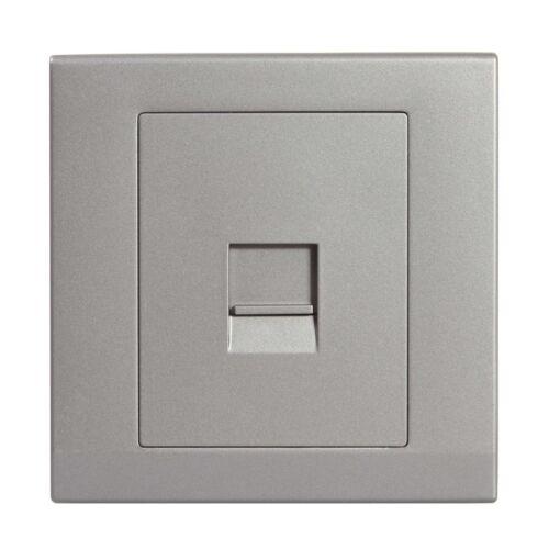 Simplicité gris sans vis seul BT Maître Téléphone Socket 07742
