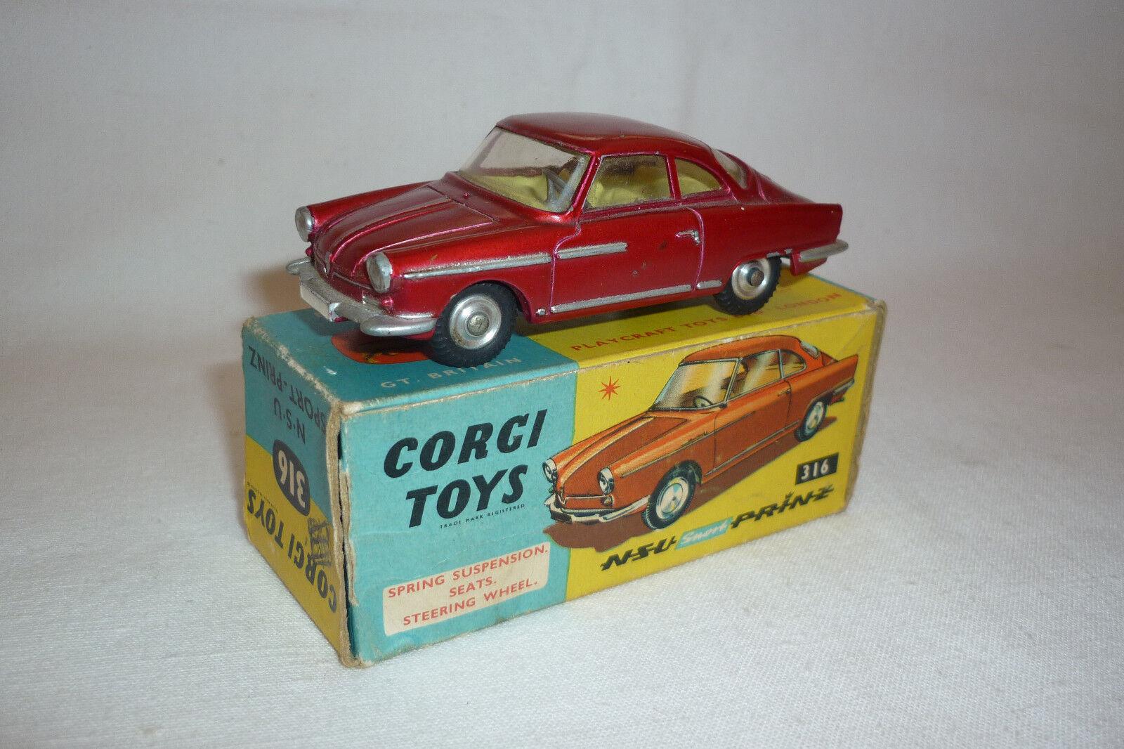 Corgi Toys - Vintage Metal Model - 316 - NSU - Sport Prince - (Corgi 14)