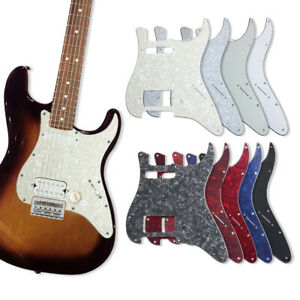 Blue Pearl HSS Scratchplate Pickguard for Strat Style Guitar Replacement 3-ply 11 Holes