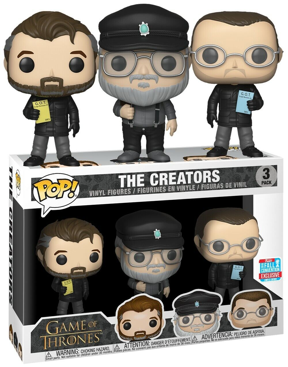 Funko pop the creators, Juego of thrones nycc 2018 nuevo