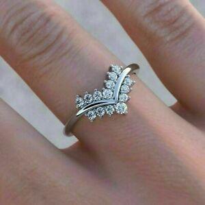 2.90 Ct Round Cut Halo Diamond Engagement Women Wedding Ring White Gold Finish