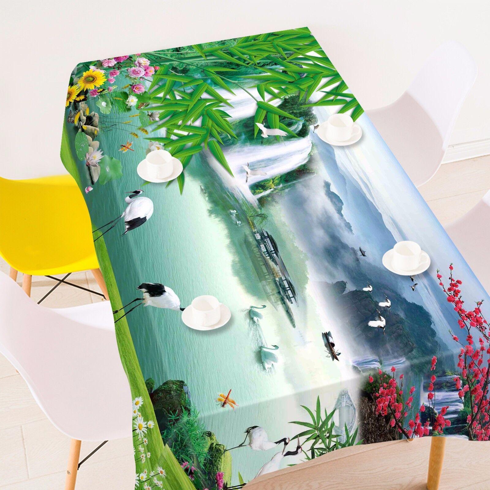 3D Crane 4422 Tablecloth Table Cover Cloth Birthday Party Event AJ WALLPAPER AU