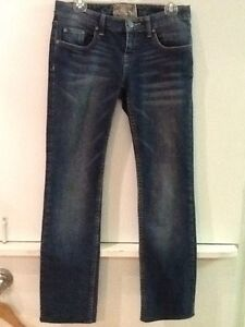 "American Rag Cie Womens Juniors Straight Leg Medium Wash Jeans Size 3 28"" Inseam"