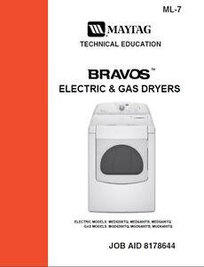 maytag bravos gas electric dryer service repair manual ebay rh ebay co uk maytag neptune gas dryer manual mdg5500aww maytag gas dryer troubleshooting won't start