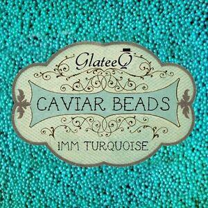 GlateeQ-20g-Turquoise-1mm-Caviar-Beads-Craft-Nail-Art-amp-Ciate-Style-Manicure