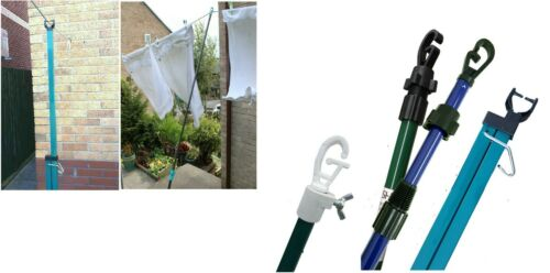 Telescopic Washing Line Prop Heavy Duty Line Extending Clothes Pole Support New