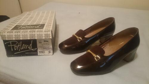 degli da in marrone di anni '70 chiaro 5 pelle scamosciata taglia donna Scarpe eleganti Portland 8pBd8