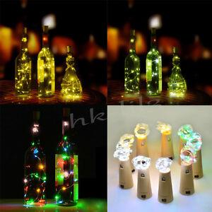 Cork Bottle Stopper Glass Wine 20 Led Fairy String Lights
