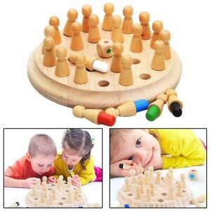 Wooden-Memory-Matchstick-Schachspiel-Kinder-Kinder-Puzzle-Lernspielzeug