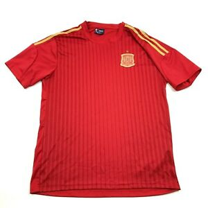 Spain National Soccer Jersey Size L The Red One Dry Fit Sewn On Patch Football