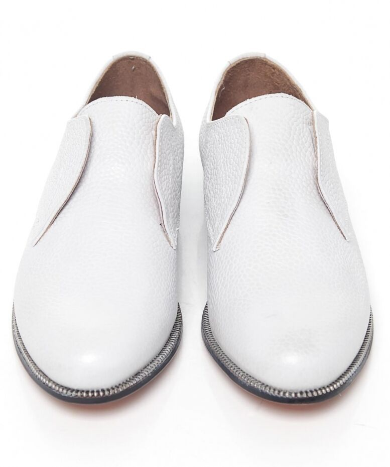 H By Hudson Charlie Leather May White Slip On Leather Charlie Shoes   UK 6 EU 41 LN06 42 a7246d