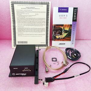 Brillant Motorola Iden Sans Modem Im1000 F2594b W/ Rack , Câbles, Manuel Complet