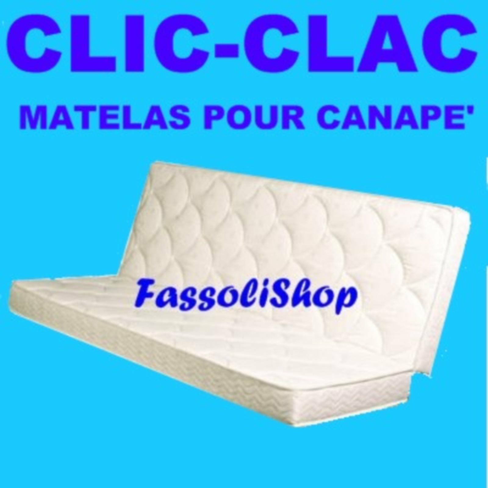 MATELAS POUR CANAPE' CLIC-CLAC  CM 60+80x190 PLUS 18