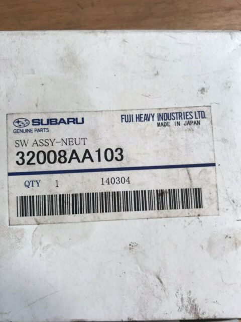 SUBARU IMPREZA NEUTRAL POSITION SWITCH 32008AA103
