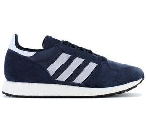 adidas-Originals-Forest-Grove-Sneaker-D96630-Blau-Freizeit-Schuhe-Turnschuhe-NEU