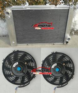 3 Rows Aluminum Radiator + FANS for Pontiac Fiero 84 85 86 87 88 I4/V6 2.5/2.8L