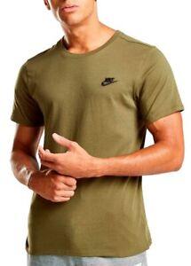 New-Men-039-s-Nike-Logo-T-Shirt-Top-Retro-Vintage-Branded-Sports-Green