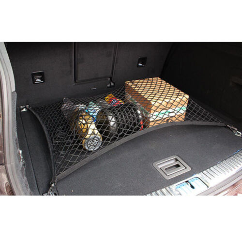 Black Car Truck Rear Cargo Trunk Boot Floor Net Elastic Mesh Storage Kit Durable