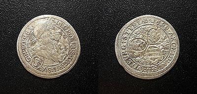 Gastvrij Autriche - Léopold I - 3 Kreuzer 1699 Ia, Graz - Km#1115 Kan Herhaaldelijk Worden Omgedraaid.