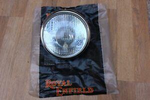 LENS GLASS FOR ROYAL ENFIELD BULLET COMPLETE HEADLIGHT ASSEMBLY CHROMED RIM