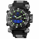 Infantry IN-050-BLK-R 50mm Black Dial Black Rubber Strap Wrist Watch for Men