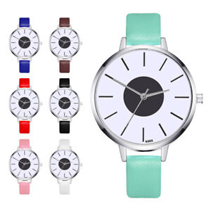 8305f895b Image is loading Women-Simple-Watch-Ultra-Thin-Quartz-Analog-Leather-