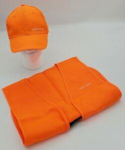 And-Stream-Juventud-Blaze-Naranja-Field-caza-sombrero-y-chaleco-Combo-Ajustable