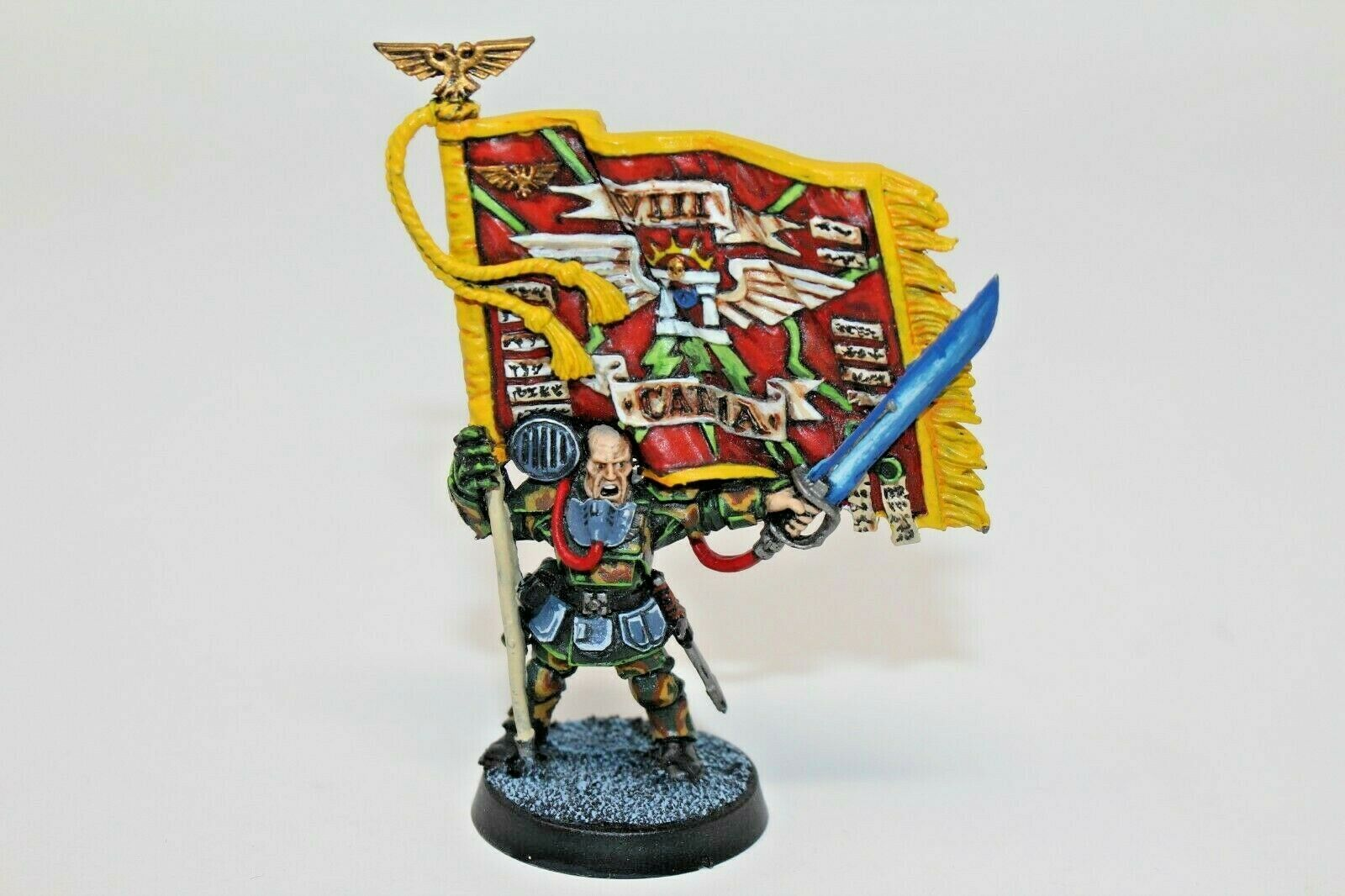 Warhammer  Imperial Guard Colour Sergeant Kell Well Painted Metal - JYS11  fino al 42% di sconto