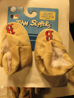 Red Sox Baby Team Slippers 6-9 Mo Large R$14.99 Forever Collectibles 3221