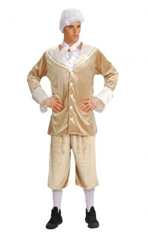 """FANCY DRESS MENS MASQUERADE KING FITS UP TO 42/"""" CHEST"""