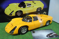 PORSCHE 910 de 1967 street Jaune Orange au 1/18 EXOTO MOTORBOX MTB 00063 voiture