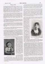 1895 Miss Rosa Leo Child Smoking Pipe International Society Of Wood Engraver's