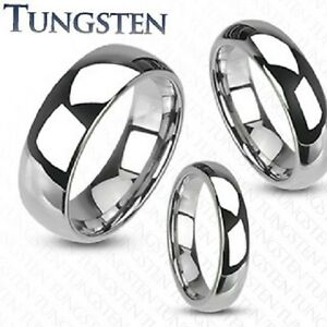 NEW-TUNGSTEN-CARBIDE-WEDDING-RING-BAND-MIRROR-POLISHED-MENS-LADIES-MATCHING