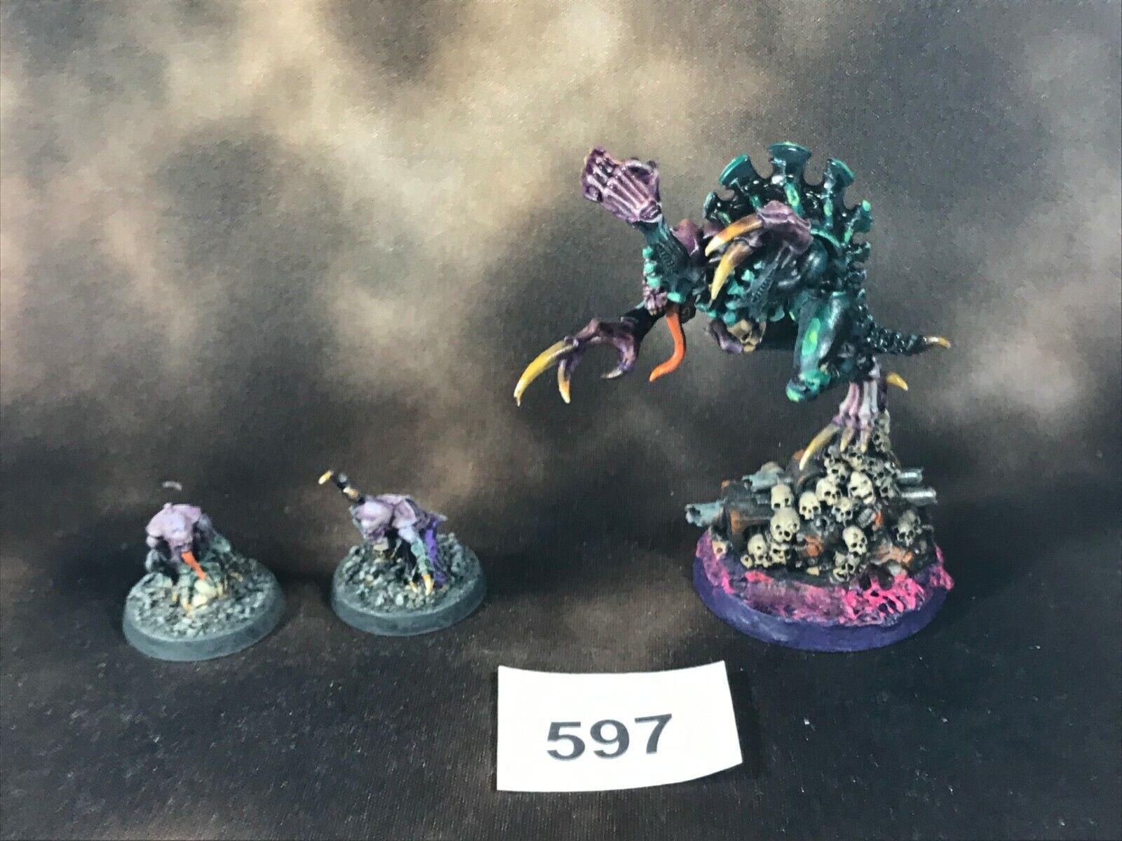 Warhammer 40k Tyranids  Genestealer Cult Patriarch Familiars Broodlord Painted  vendita all'ingrosso
