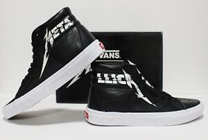 5b5eb1e9e9ccca Vans X Metallica SK8 Hi Reisssue Black True White Men s Size 8 ...