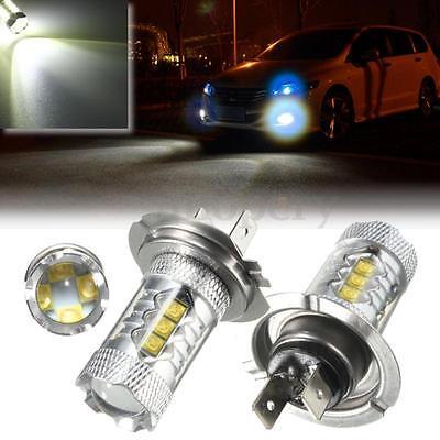 2x Lampadina H7 2323 SMD 80W LED Fendinebbia Driving Auto Luce Bianco 12-24V