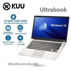 KUU-Ultra-Notebook-PC-Computer-Windows-10-Intel-Celeron-N3050-14-1incn-4G-RAM64G