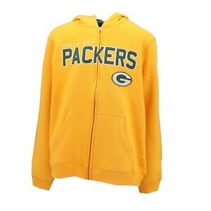 Green Bay Packers Official NFL Kids Youth Size Full Zip Up Hooded ... 9a0cd3696