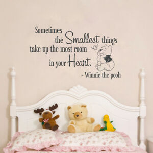 Details about Quote Winnie Pooh Wall Decal, Lettering Winnie Pooh Bedroom  Wall Sticker