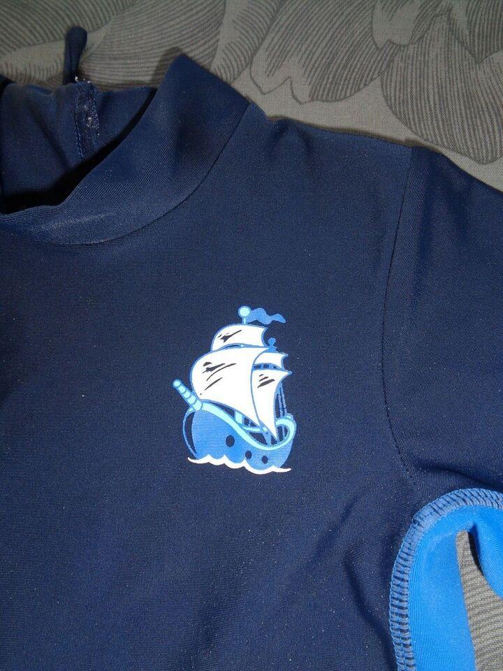Badetøj, Heldragt mørkeblå/blå med skib, Name It