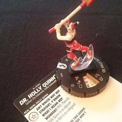 Holly Quinn #033 Rare figure w//card! Heroclix Harley Quinn Gotham Girls set Dr