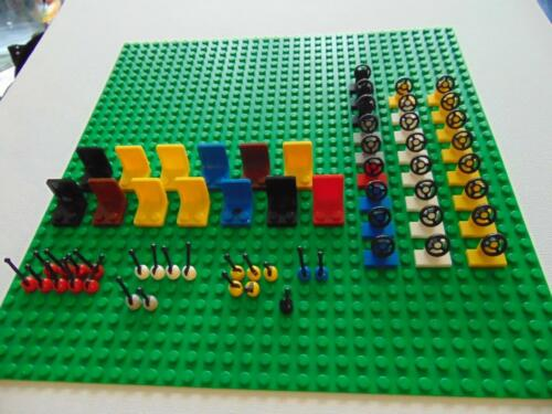 Genuine Lego Chairs Car Seats Steering Wheels and Gear Levers