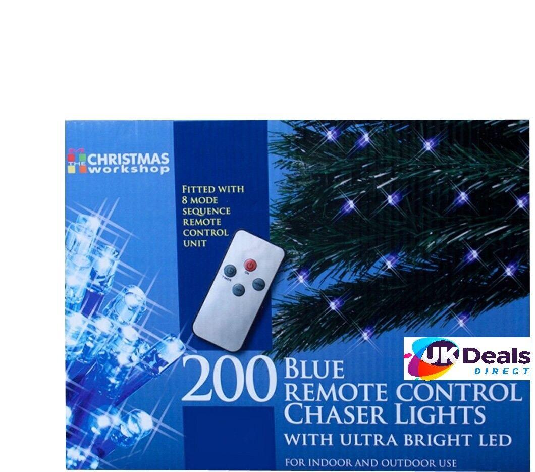 Il laboratorio di di di Natale 200 LED di controllo remoto Chaser luci, blu 56dc93
