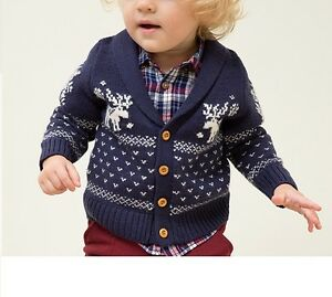 image is loading kids toddler christmas sweater cardigan coat children baby
