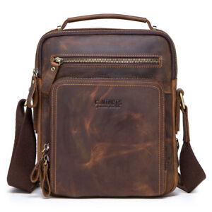 Mens-Genuine-NUBUCK-Leather-Tote-Laptop-Shoulder-Messenger-Briefcase-Bag-Handbag
