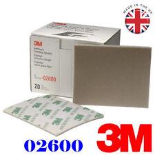 Grit 320//400 Softback Sanding Sponge Abrasive Paper Flexible Foam Aluminum Oxide 20-PK
