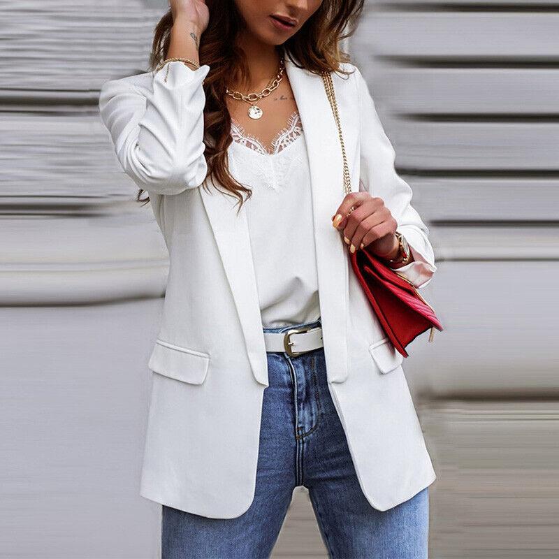 Avamo Womens Blazer Ladies Long Sleeve Work Suit Formal Jacket Coat Plus Size
