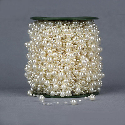 5M/60M Fishing Line Pearls Chain Pearl Beads Chain Garland Wedding Decoration