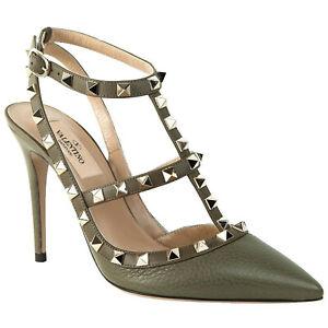 Valentino Rockstud Olive Green Heel   eBay
