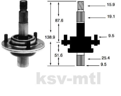 Messerwelle vollst MTD B115  RMS412-81T Messerspindel